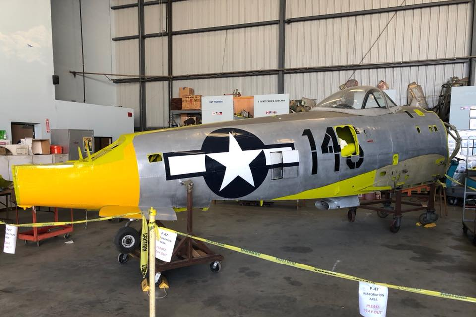 Southern California CAF unit begins work on the P-47